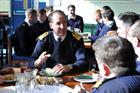 First Sea Lord at lunch with Culdrose personnel