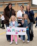 L-R Helen Roe and daughters Lexi (4) and Ellie (6), Sister of Chloe Conway and Chloe Conway
