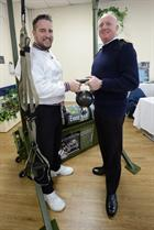 LPT James Arnold and Commander Terry Tyack Executive Officer RNAS Yeovilton