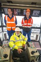 Prince Michael of Kent in the Goliath crane
