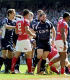 LA Ben Priddey after score one of his three tries - (Crown Copyright)