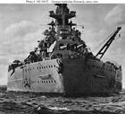 Bismarck stern view U.S. Naval History & Heritage Command Photograph