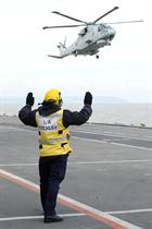 Merlin arriving on HMS Illustrious during Ex Joint Warrior