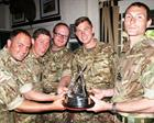 Naval Air Command winners of the Coronation Trophy