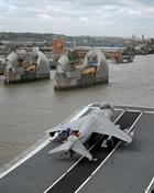 Sea Harrier with on Illustrious prior to her entry to Greenwich on the 6th may 2009