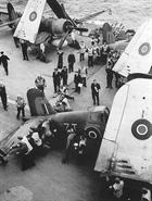 1834NAS Corsairs on deck HMS Victorious