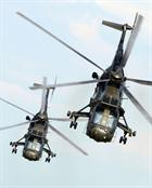 Sea King Mk4 helicopters from 845 NAS performing at this years air day