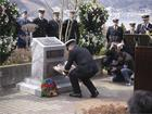 In 2006, officers of HMCS Ottawa  at the memorial to Robert Hampton Gray, Onagawa Bay in Japan