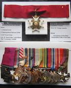 Medals awarded to Vice Admiral Richard Bell -Davies