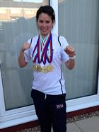 LAET Sam Irish and her 4 Gold medals