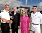 Commodore Jock Alexander, Barry Critchell, Jo Critchell and Chief Petty Officer Gary Ibbotson