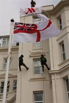 Royal Marines wowed the crowds with their skills abseiling down a building