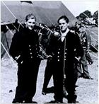 Sub Lt Richard 'Dicky' Cork DSO DSC on the left with Sub Lt Arthur 'Admiral' Blake