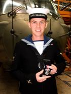 Air Engineer Technician Alex Fisher and the Queen Medal