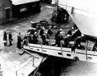RN ratings board the aircraft carrier HMS Theseus in 1950 bound for Korea