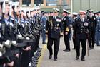 His Royal Highness The Duke of York inspecting the Royal Navy guard from 846 NAS