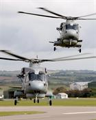 829 NAS Merlins Mk 2 front and Merlin Mk 1 rear