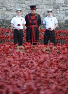 L to R AET Max Searle, Yeoman Warder Rob Grenfell, AET James-Lowe