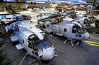 820 NAS Merlin Mk 2's in the Hangar, RFA Argus