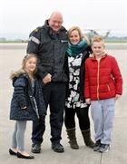 Chief Petty Officer Ronnie Ronaldson, wife Karen, Zoe (7) and Sam (10)