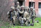 Troops from 45 Cdo RM in Imber village