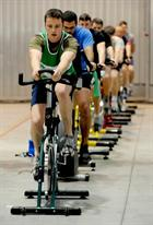 Cycling team in the Sqn Hangar