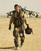 Cdr Bing returns from a successful sortie over Afghanistan during his time with the Naval Strike Win