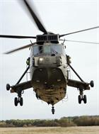 Sea King over Salisbury Plain