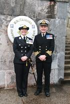 Midshipman Michelle Ping QVRM and Commander Gary Duffield RNR Air Branch