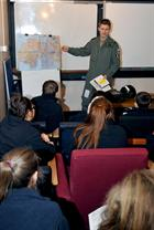Wellington Academy & Lt David Houghton conducting the pre-flight     briefing