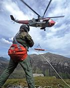 Gannet SAR Sea King Winch Stretcher transfer training