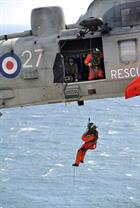 Aircrewman Winching exercise, 771 NAS