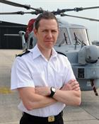 WO Mark Plummer in front of Lynx Mk 8