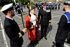 Mayor of Helston inspecting the Guard