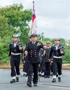 (Bob Sharples) Lt Cdr Phil Beacham, Parade Commander