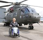 Merlin Mk 3 with 846 NAS and Mrs Anne Maw Lord - Lieutenant of Somerset