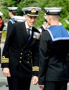Cdr Ian Fitter at the Freedom of Helston parade