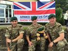 Royal Marines from CHF Combat Support Squadron at Wincanton AFD