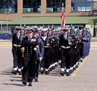 Parade led by Cdr Matt Punch