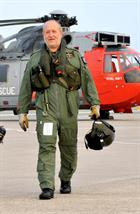 Lt Cdr 'Tank' Murray return from a training Flight