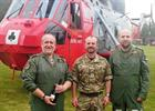 Lt Cdr 'Tank' Murray, Lt Iain Jardine from BRNC Dartmouth and KptLt Steffen Volkwein