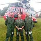 CPO Alf Kitwood, Lt Cdr 'Tank' Murray and KptLt Steffen Volkwein