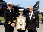 Cdr Thomas and NA Fletcher with Vic Murphy