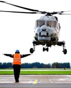 Lynx flight return to base after nine month deployment to the Middle East
