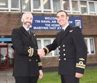736 NAS New CO, Lt Cdr Barry Issitt (right) taking over from Lt Cdr Tim Flatman