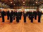 Naval Airmen Aircraft Handlers course on parade
