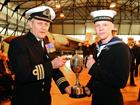 NA Thomas Graves receiving the Special Endeavour award from Cdr Mark Deller