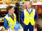 Nick Boles MP meet Tom Cooper a 2nd year apprentice