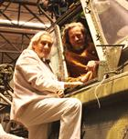 Mike Smith left, with his son Quinton in the cockpit of a Wessex 5