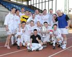 HMS Heron, the winning team with Navy Cup 2012